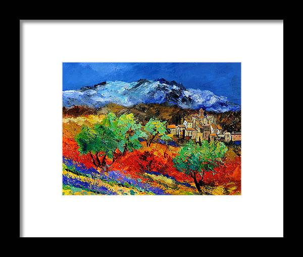 Landscape Framed Print featuring the painting Provence 790050 by Pol Ledent