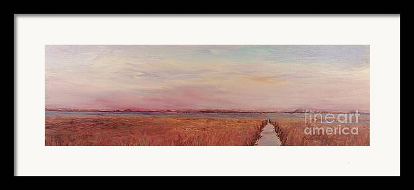 Landscape Framed Print featuring the painting Provence Camargue by Nadine Rippelmeyer
