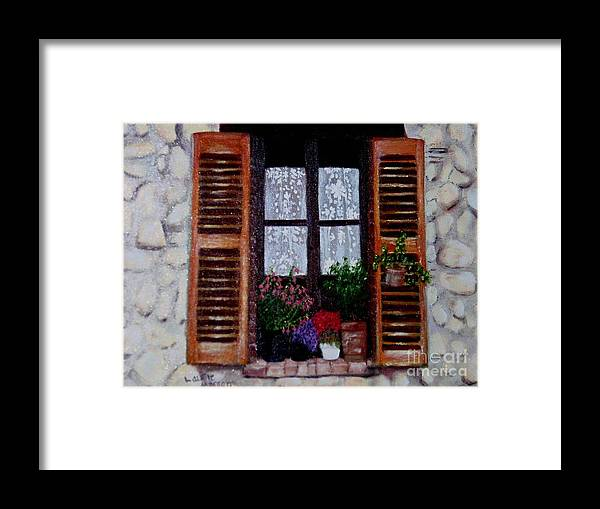 Provence Framed Print featuring the painting Provence Morning by Laurie Morgan