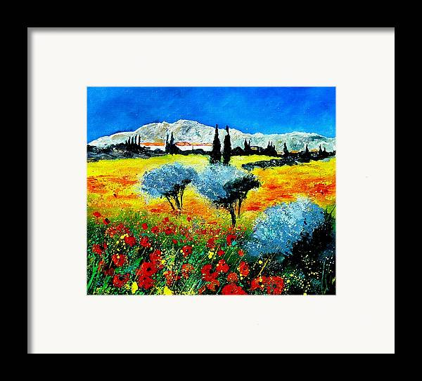 Poppies Framed Print featuring the painting Provence by Pol Ledent