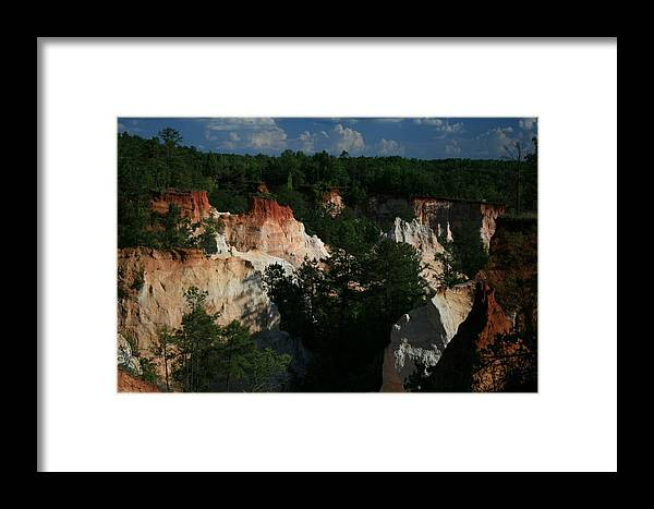 Nature Framed Print featuring the photograph Providence Canyon by Johann Todesengel
