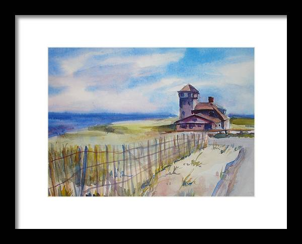 Provincetown Framed Print featuring the painting Provincetown Ocean View by Joyce Kanyuk