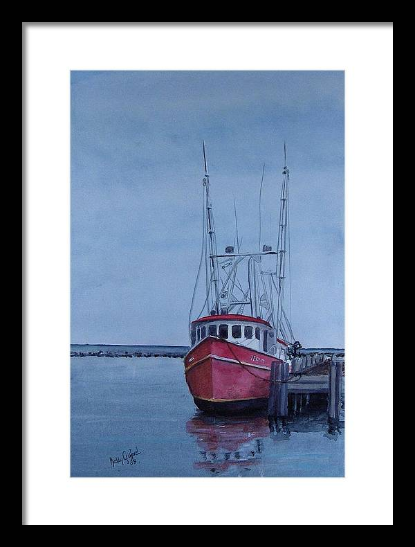 Fishing Trawler Framed Print featuring the painting Provincetown Portuguese by Haldy Gifford