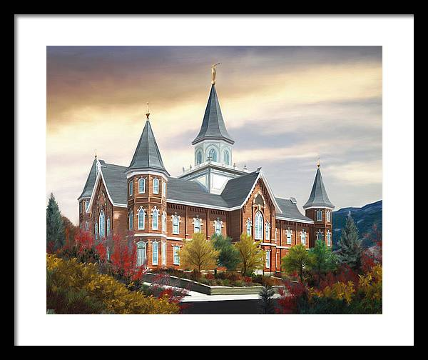 Provo Framed Print featuring the painting Provo City Center Temple by Brent Borup