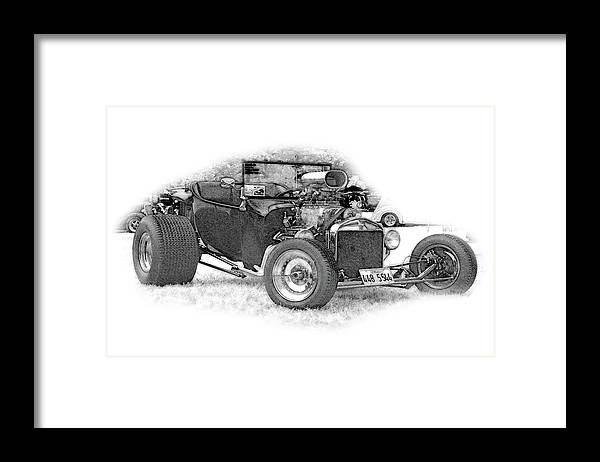 Cars Framed Print featuring the digital art Ps Pencil 256 by Shellie Midgette