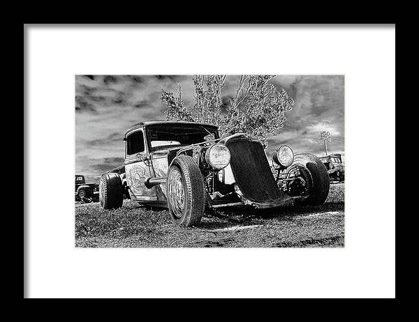Cars Framed Print featuring the digital art Ps Pencil Spooky by Shellie Midgette