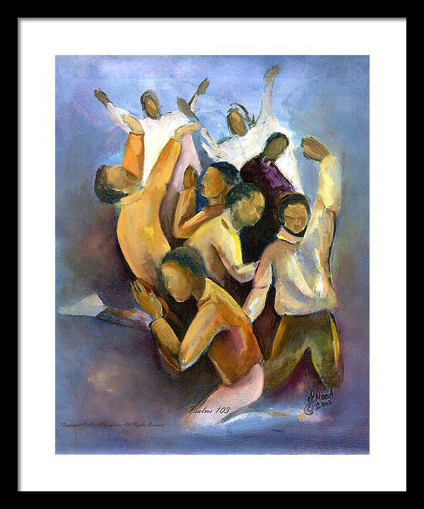 Spiritual Framed Print featuring the painting Psalm 103 by Lee Hood