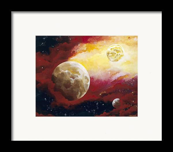 Space Framed Print featuring the painting Psalm by Laura Swink