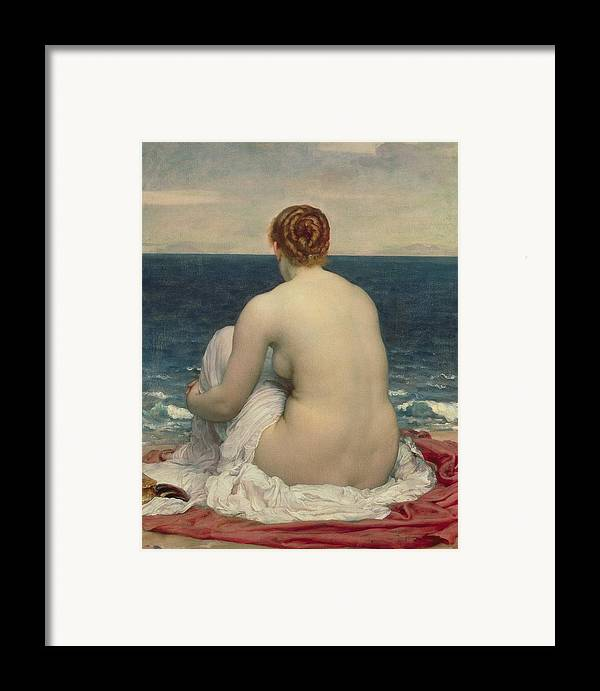 Psamanthe Framed Print featuring the painting Psamanthe by Frederic Leighton