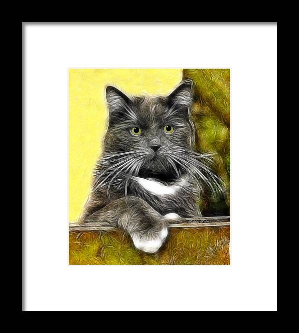Smudgeart Framed Print featuring the digital art Pssst ... Where's The Treats by Madeline Allen - SmudgeArt