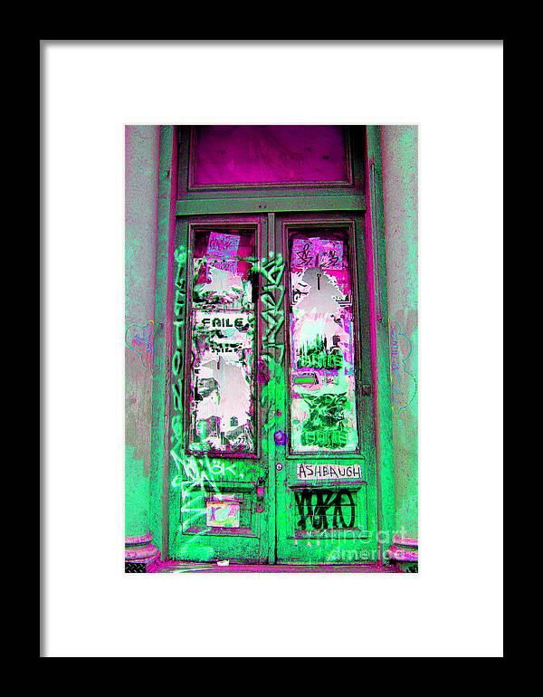 Door Framed Print featuring the photograph Psychedelic Door by Madeline Ellis
