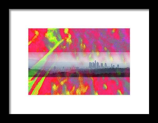 Psychedelic Framed Print featuring the photograph psychedelic energy of Los Angeles by Viktor Savchenko