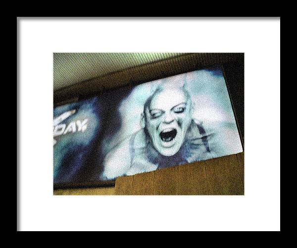 Monster Framed Print featuring the photograph Psychosis - Bad Sign by Maciej Mackiewicz