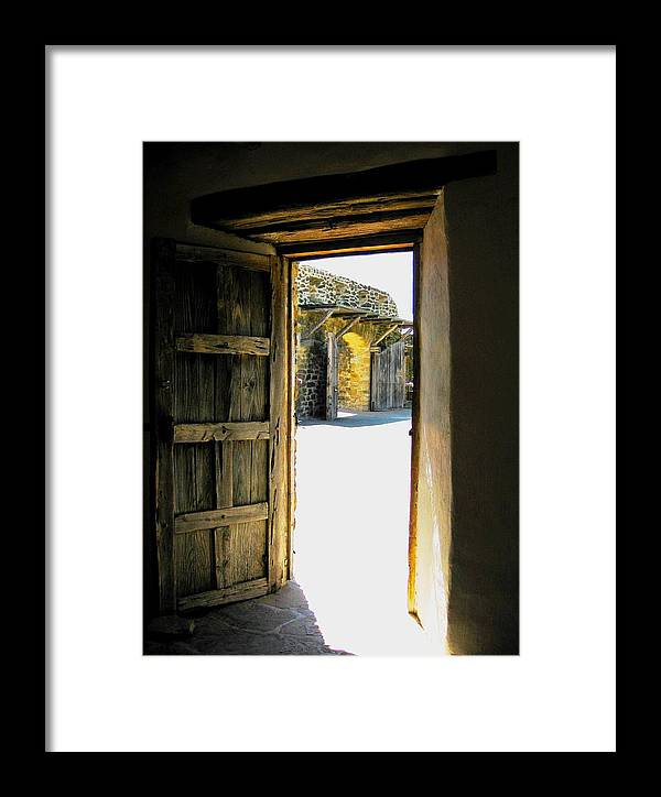 Diana Framed Print featuring the photograph Puerta 2 by Diana Moya
