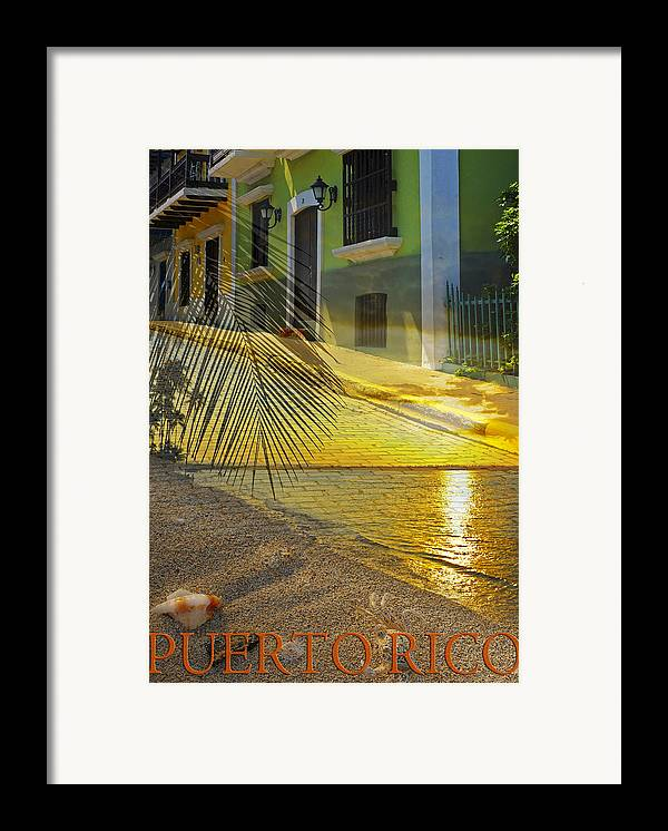 Puerto Rico Framed Print featuring the photograph Puerto Rico Collage 3 by Stephen Anderson