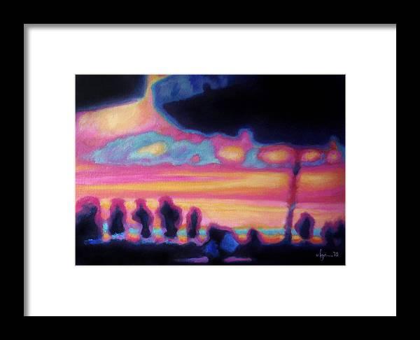 Mexico Framed Print featuring the painting Puerto Vallarta Umbrella by Angela Treat Lyon