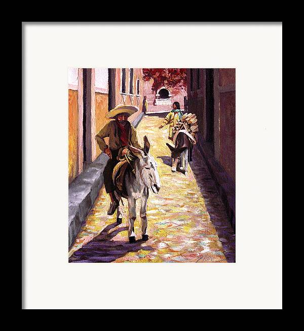 Impressionism Framed Print featuring the painting Pulling Up The Rear In Mexico by Nancy Griswold