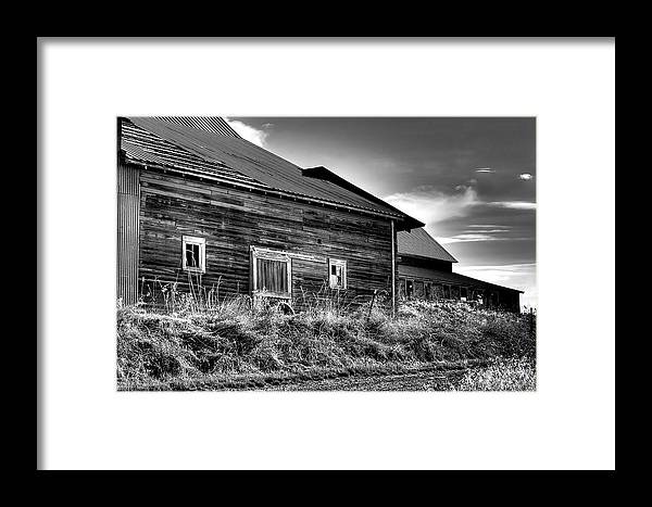 Landscape Framed Print featuring the photograph Pullman Barns by David Patterson