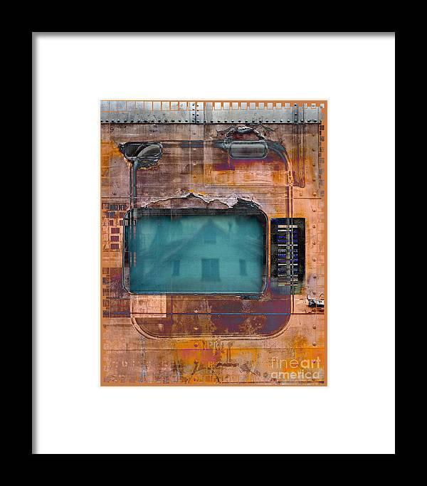 Train Framed Print featuring the digital art Pullman Reflections by Chuck Brittenham