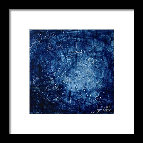 Pulse Framed Print featuring the painting Pulsing by Jelena Ignjatovic