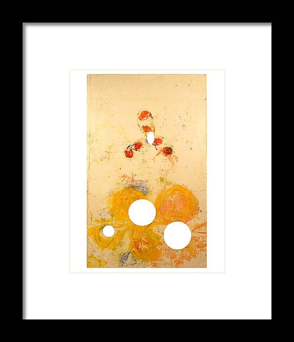 Abstract Framed Print featuring the painting Punctuations by Howard Goldberg