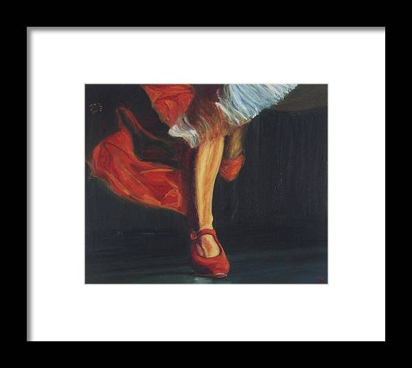 Flamenco Framed Print featuring the painting Punta by LB Zaftig