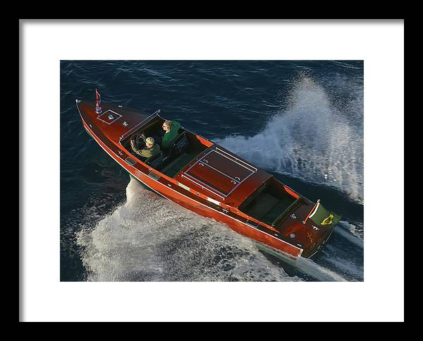 Boat Framed Print featuring the photograph Pure Class by Steven Lapkin