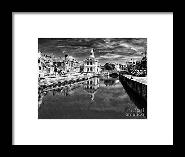 Custom Framed Print featuring the photograph Purfleet Quay King's Lynn by John Edwards