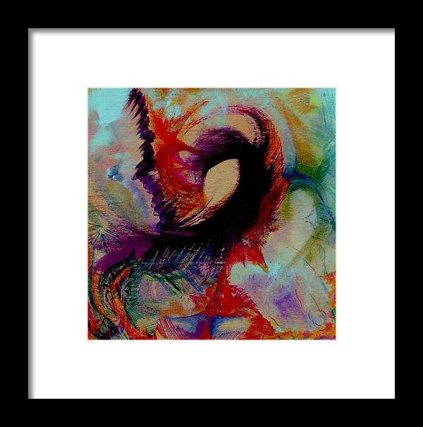 Abstract Framed Print featuring the painting Purgatory by Peter Shor