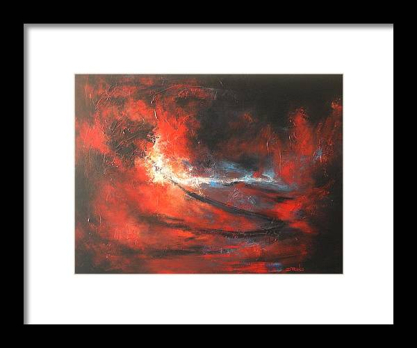 Abstract Framed Print featuring the painting Purification by DEVARAJ Daniel Franco