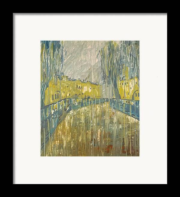 Melancholy Framed Print featuring the painting Purification by Kseniya Nelasova