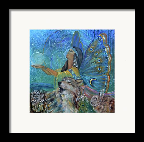 Native American Framed Print featuring the painting Purification by Sundara Fawn