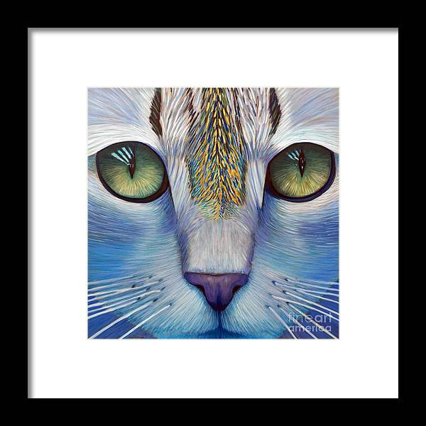 Cat Framed Print featuring the painting Purity by Brian Commerford