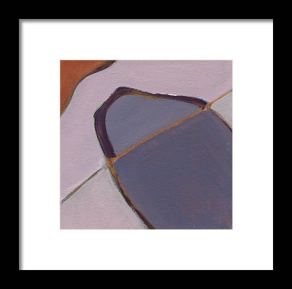 Acrylic Framed Print featuring the painting Purple 1 by Alice Kirkpatrick