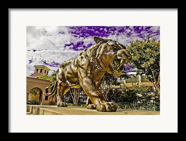 Statue Framed Print featuring the photograph Purple And Gold by Scott Pellegrin