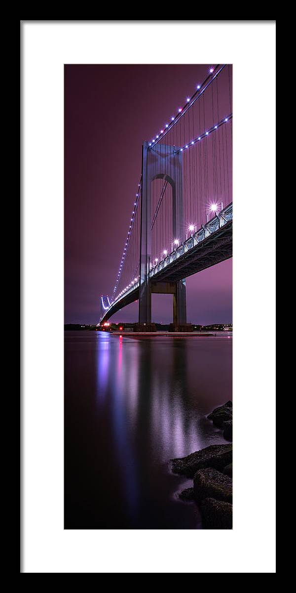 50s Framed Print featuring the photograph Purple Bridge by Edgars Erglis