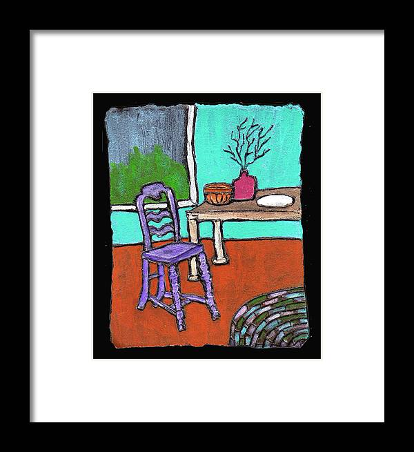 Purple Framed Print featuring the painting Purple Chair by Wayne Potrafka