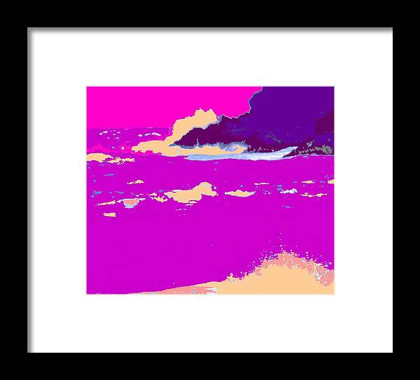 Waves Framed Print featuring the photograph Purple Crashing Waves by Ian MacDonald