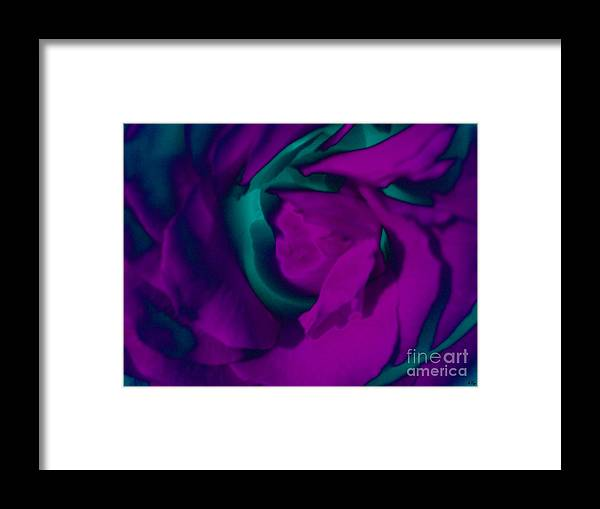 Abstract Framed Print featuring the digital art Purple Delight by S Cyr