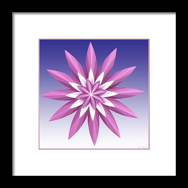 Fractal Framed Print featuring the digital art Purple Flower by Deborah Benoit
