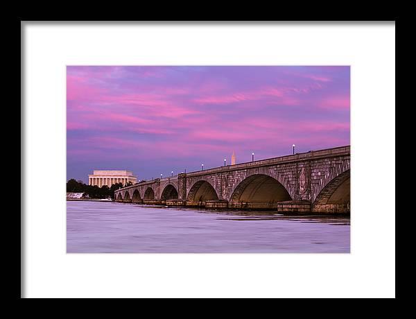 Framed Print featuring the photograph Purple Glow by Joshua Lebenson