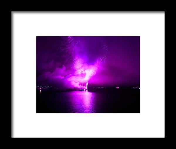 Fireworks Framed Print featuring the photograph Purple Haze by Kendall Eutemey