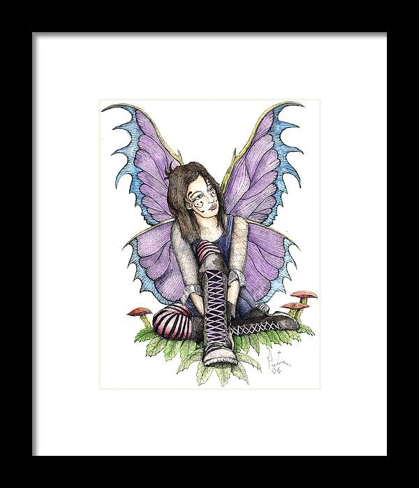 Gothic Fairy Framed Print featuring the painting Purple Laces by Preston Shupp