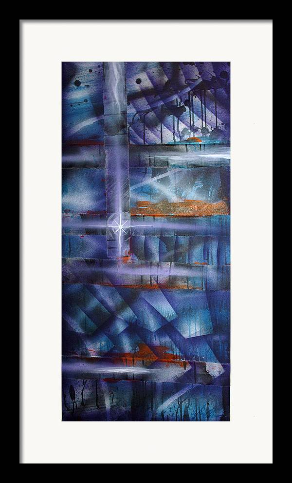 Purple Framed Print featuring the painting Purple by Leigh Odom