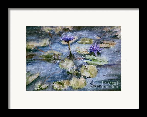 Lily Framed Print featuring the painting Purple Lily by Brenda Thour