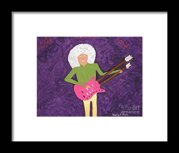 Music Framed Print featuring the painting Purple Love by Gregory Davis