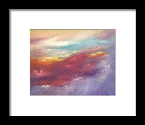 Sky Framed Print featuring the painting Purple Majesty by Sally Seago