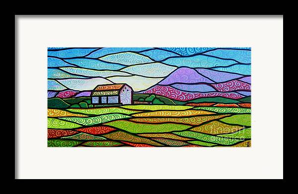 Mountains Framed Print featuring the painting Purple Mountain Majesty by Jim Harris
