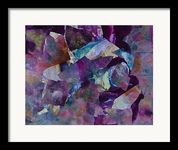 Purple Framed Print featuring the painting Purple Passion by Don Wright