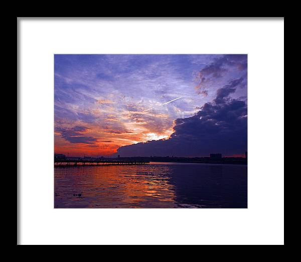 Landscape Framed Print featuring the photograph Purple Passion Skies by Kendall Eutemey